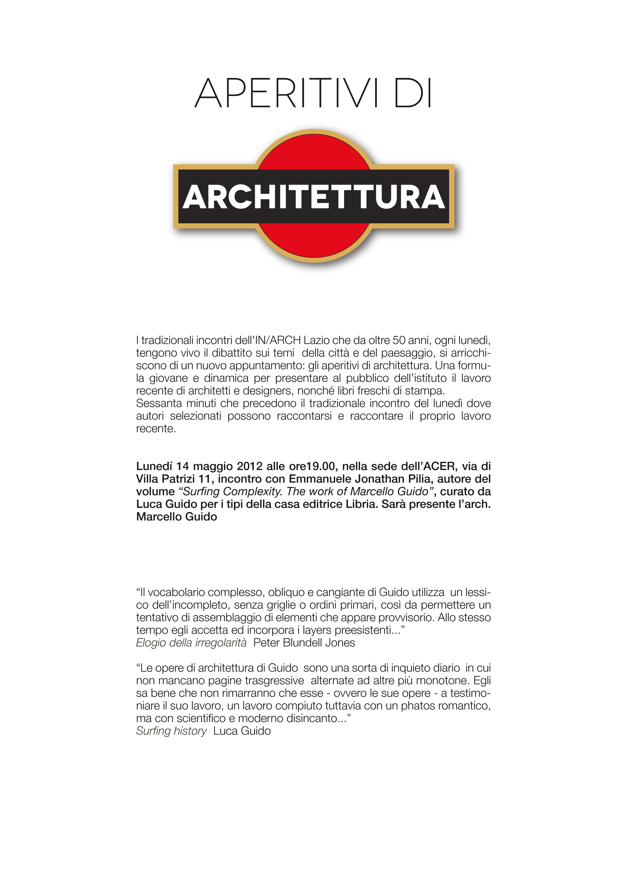 Aperitivi di architettura-guido